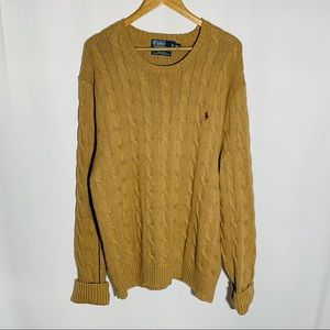 Polo by Ralph Lauren camel cable knit sweater, XXL
